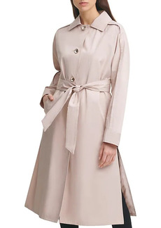 Karl Lagerfeld Belted A-Line Trench Coat