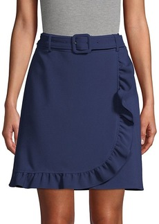Karl Lagerfeld Belted Faux Wrap Skirt