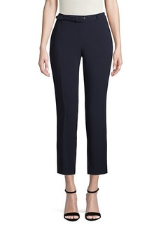 Karl Lagerfeld Belted Flat-Front Pants