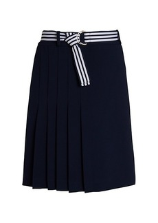 Karl Lagerfeld Belted Pleated Skirt