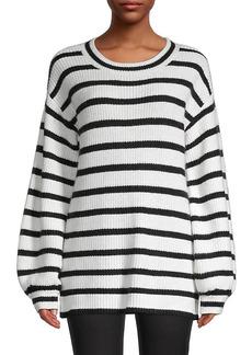 Karl Lagerfeld Blouson-Sleeve Stripe Sweater