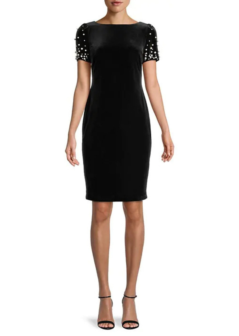 Karl Lagerfeld Boatneck Sheath Dress