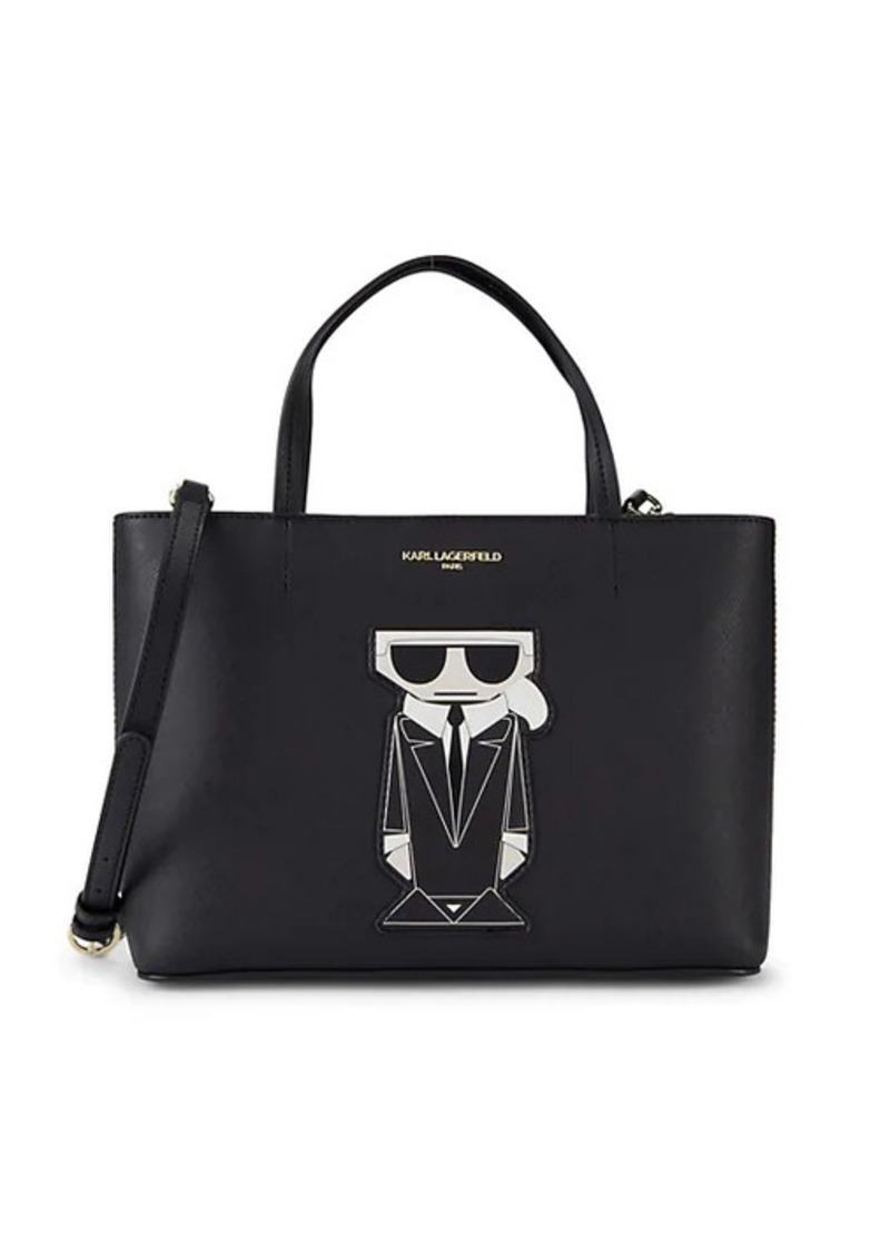 Karl Lagerfeld Maybelle Boxy Faux Leather Tote