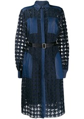 Karl Lagerfeld Burn Out denim dress