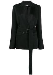 Karl Lagerfeld cameo belted blazer