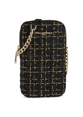 Karl Lagerfeld Charlotte Tweed Crossbody Phone Case