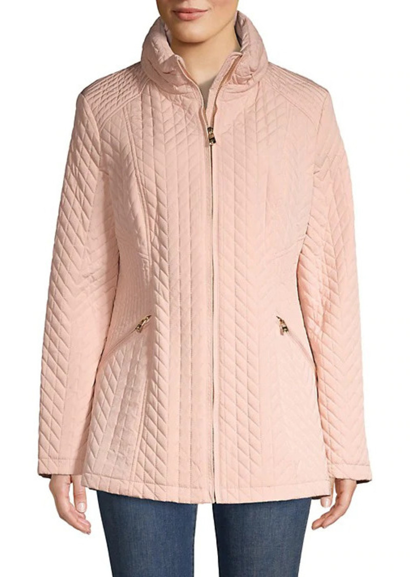 Karl Lagerfeld Chevron Quilted Puff Down Jacket