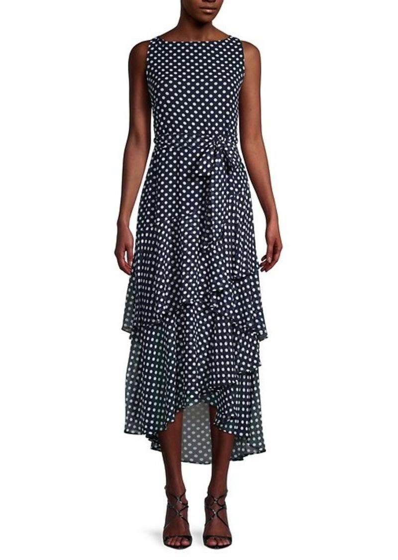 Karl Lagerfeld Chiffon Polka Dot Dress