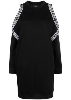 Karl Lagerfeld cold shoulder sweatshirt dress