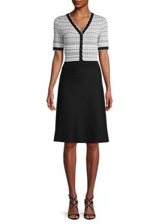 Karl Lagerfeld Colorblock A-Line Dress