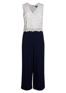 Karl Lagerfeld Colorblock Lace Jumpsuit