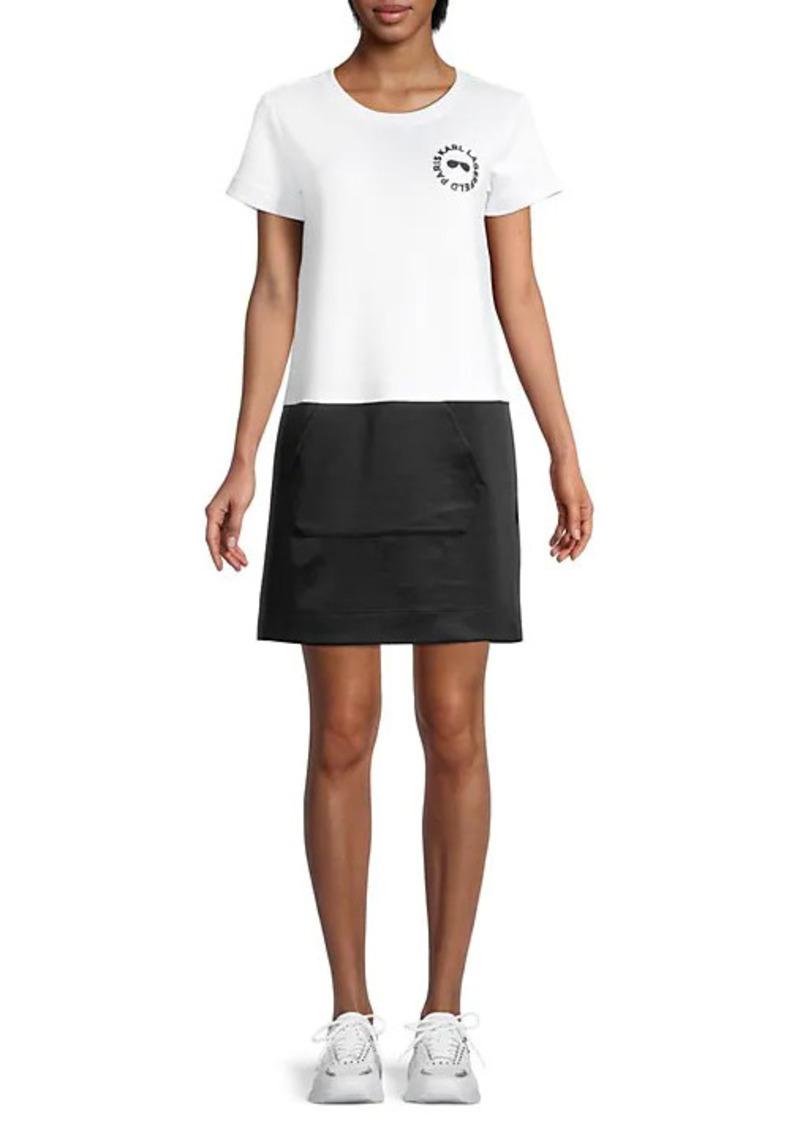 Karl Lagerfeld Colorblock T-Shirt Dress