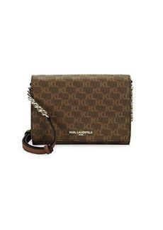 Karl Lagerfeld Connie Logo Printed Crossbody Bag