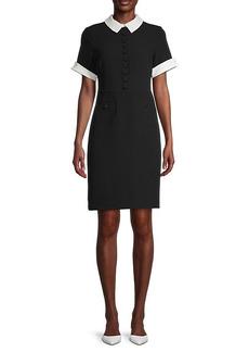Karl Lagerfeld Contrast Collar & Cuffs Dress
