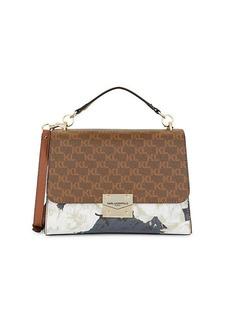 Karl Lagerfeld Corinne Monogram Top Handle Shoulder Bag