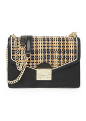 Karl Lagerfeld Corrine Woven Shoulder Bag