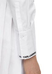 Karl Lagerfeld Cotton Poplin Shirt Dress
