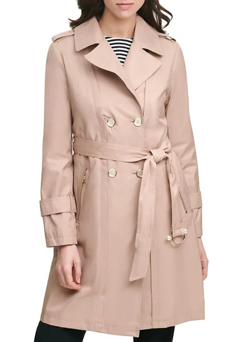 Karl Lagerfeld Double-Breasted Trench Coat