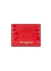 Karl Lagerfeld Embossed PVC Card Case