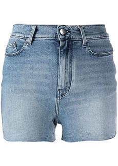 Karl Lagerfeld embroidered-motif denim shorts
