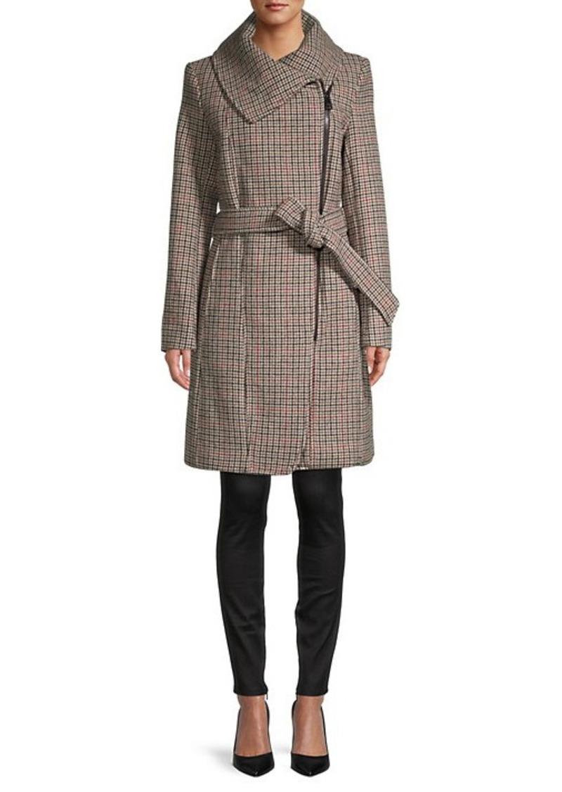 Karl Lagerfeld Envelope-Collar Asymmetrical Coat