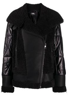 Karl Lagerfeld faux-fur biker jacket