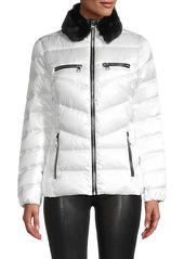 Karl Lagerfeld Faux Fur Collar Puff Jacket