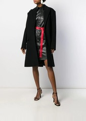 Karl Lagerfeld faux leather shirt dress
