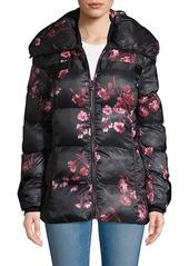 Karl Lagerfeld Floral Puffer Jacket