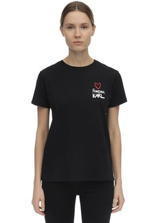 Karl Lagerfeld Forever Karl Cotton Jersey T-shirt
