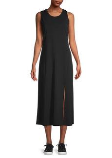 Karl Lagerfeld Front-Slit Knit Jersey Dress