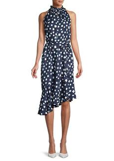 Karl Lagerfeld Geometric Asymmetric-Hem Dress