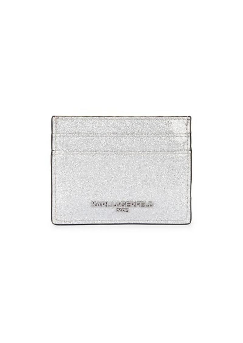Karl Lagerfeld Glitter PVC Card Holder