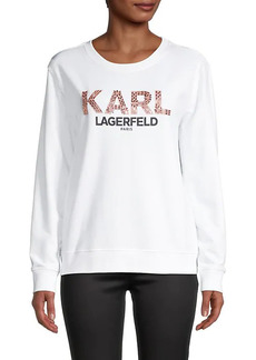 Karl Lagerfeld Graphic Cotton-Blend Sweater