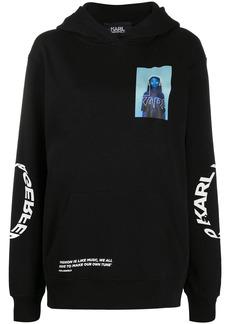 Karl Lagerfeld graphic print hoodie