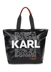 Karl Lagerfeld Graphic PVC Shopper Bag
