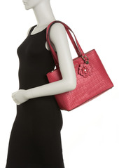 Karl Lagerfeld Heather Croc Embossed Cow Leather Tote Bag