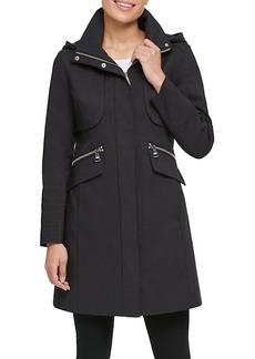 Karl Lagerfeld Hooded Officer Coat