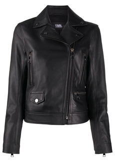 Karl Lagerfeld Ikonik Karl leather biker jacket