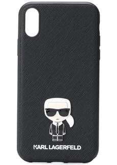 Karl Lagerfeld iPhone XR Karl caricature grained case