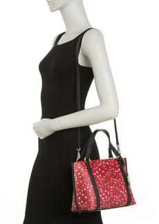 Karl Lagerfeld Iris Heart Print Mini Bag