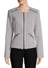 Karl Lagerfeld Jacquard Fringe Jacket