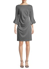 Karl Lagerfeld Jacquard Tulip Ruched Sheath Dress