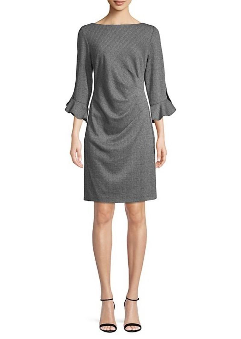 Karl Lagerfeld Jacquard Tulip Ruched Sheath Dress