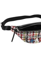 Karl Lagerfeld K Studio Leather & Tweed Belt Bag