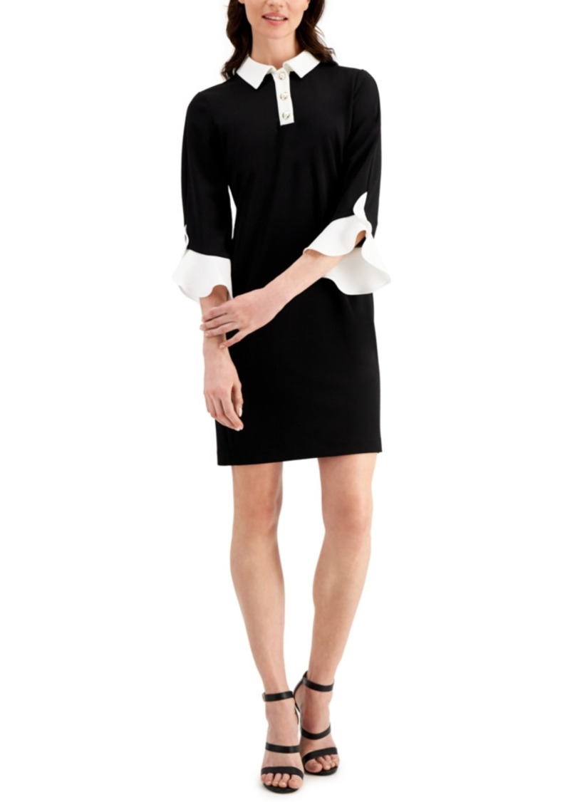 Karl Lagerfeld Bell-Sleeve Sheath Dress
