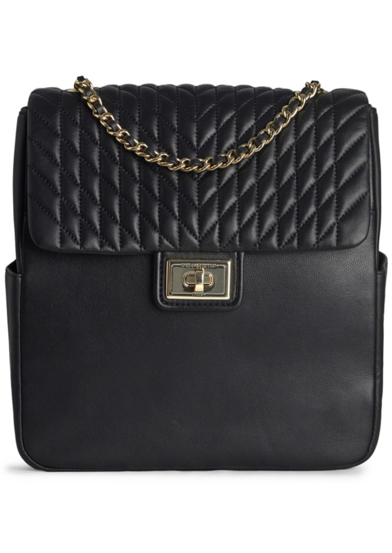 Karl Lagerfeld Paris Agyness Leather Backpack