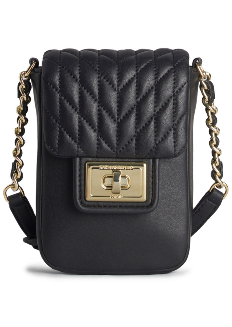 Karl Lagerfeld Paris Agyness North South Leather Crossbody
