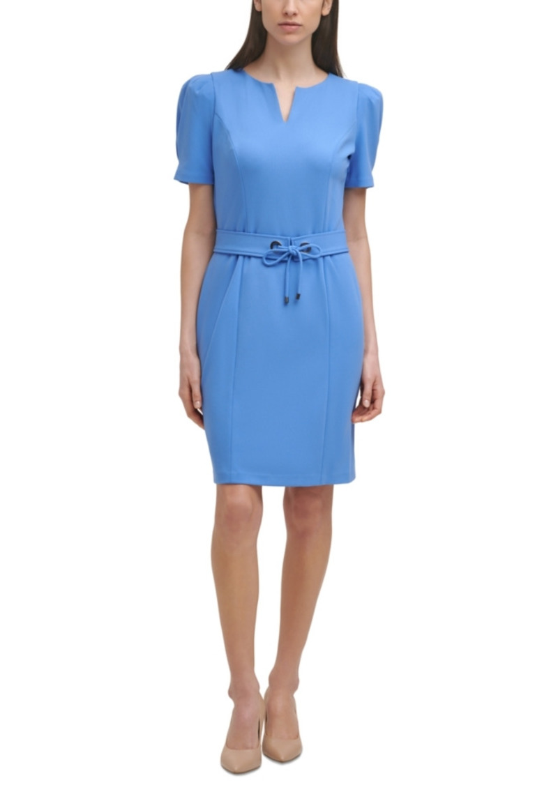 Karl Lagerfeld Paris Belted Sheath Dress