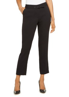 Karl Lagerfeld Paris Belted Straight-Leg Ankle Dress Pants